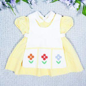 Sylvia Whyte toddler girl floral apron dress